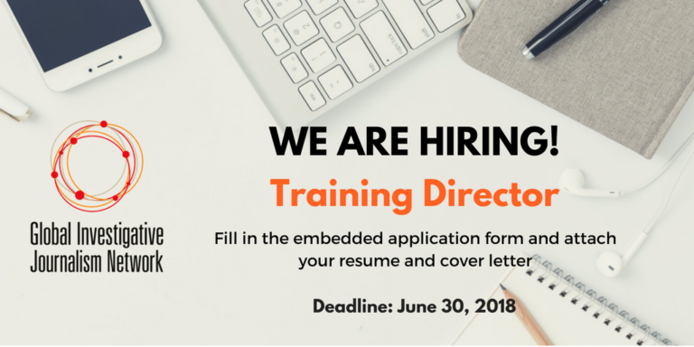 Global Investigative Journalism Network seeking Training Director