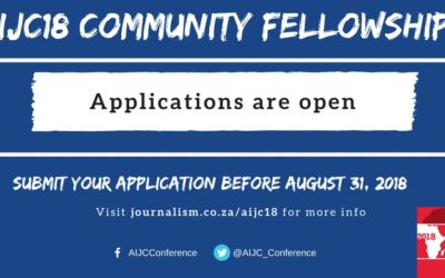 Call for applications: Community Fellowships for #AIJC18
