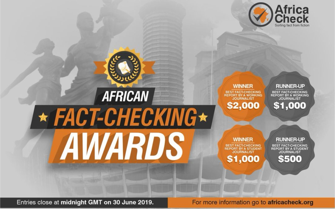 Entries are open for the African Fact-checking Awards