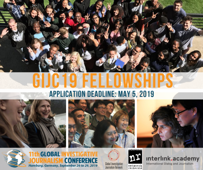 Fellowships to attend the 11th Global Investigative Journalism Conference