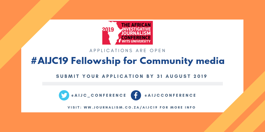Call for applications: Community Media Fellowships for #AIJC19
